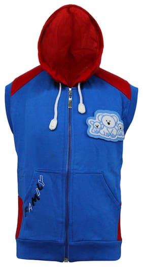 Kothari Boy Cotton Solid Sweatshirt - Blue