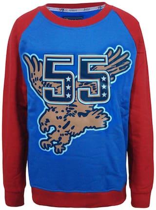 Kothari Boy Cotton Solid Sweatshirt - Multi