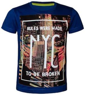 Kothari Boy Cotton Printed T-shirt - Blue