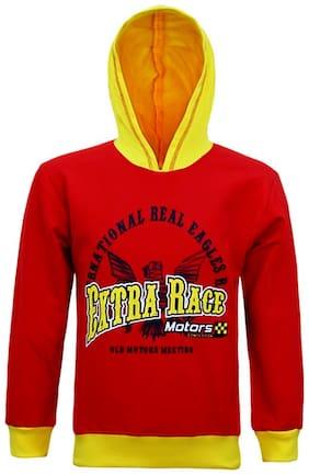 Kothari Boy Cotton Printed Sweatshirt - Red