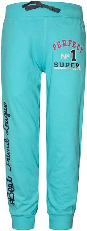 Kothari Girl Cotton Trousers - Blue