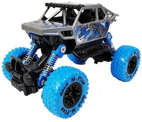 Ktrs 1: 32 Scale Die Cast Pull Back Metal Monster Truck with Friction Powered, Big Wheel Buggy, Vehicle, Shock Springs Toys