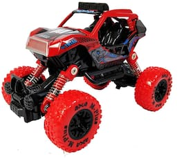 KTRS 1: 32 Scale Die Cast Pull Back Metal Monster Truck with Friction Powered  Big Wheel Buggy  Vehicle  Shock Springs Toys