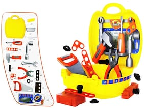 KTRS 25 Pcs Classic Engineering Tool Kit Play Set Toys with Handy Suitcase