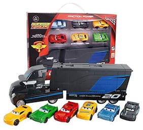 KTRS 7 pcs Set Disney Pixar Cars 3 Lightning McQueen Jackson Storm Mack Uncle Truck 1:55 Alloy Toy Truck Cars Toy
