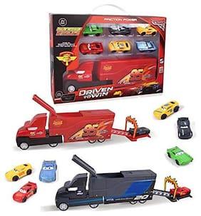 KTRS 7 pcs Set Disney Pixar Cars 3 Lightning McQueen Jackson Storm Mack Uncle Truck 1:55 Alloy Toy Truck Cars Toy