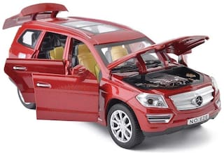 ktrs   Benz GL500 Die-Cast 4 Wheel Drive Metal Car Pull Back with 6 Openable Doors, Engine Cover, Tail with Front and Rear Light & Music