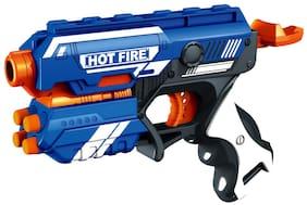 Ktrs Blaze Storm Super Game Manual Soft Foam Bullets Battle Gun Toy for Kids (Blue)