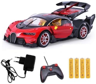 Ktrs Bugatti Style Remote Control Car with Openable Doors, Dickey and Rechargable Batteries