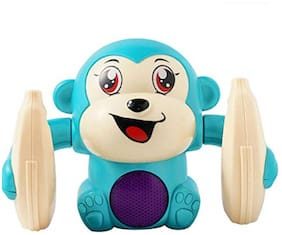 Ktrs Dancing and Spinning Banana Monkey Musical Toy with Light and Sound Effects