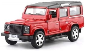 ktrs  Die-Cast 4 Wheel Drive Metal Car Pull Back with 4 Openable Doors, Engine Cover, Tail with Front and Rear Light & Music