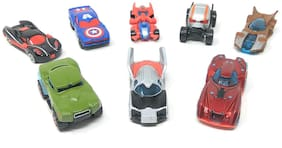 KTRS  Die Cast Metal Super Hero Cars Play Set of 8 - Perfect Toys for Kids