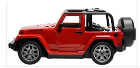 KTRS diecast hot Wheels Wrangler Big Jeep Toy Pull Back car Friction Powered with Light Music and Sound Open The Door 1 pic