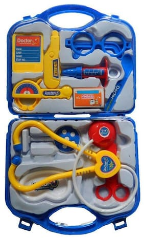 KTRS Doctor Plastic Playset Kit with Fold able Suitcase  Compact Medical Accessories Toy Set Pretend Play Kids