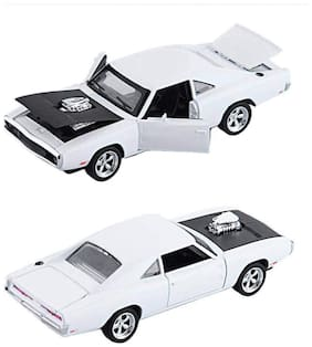 KTRS ENTERPRISE Fast and Furious 1:32 Dodge Charger Model Die Cast Door Open Metal Car Luxury Pull Back Car Toy with Light and Sound Effects