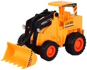 Ktrs Enterprise Wire Remote Control JCB Construction Loader Excavator Truck Toy for Boys & Girls JHPB-15 (Multicolor)