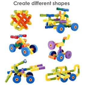 KTRS ENTERPRISE Building Block Toy for Kids;Pipe Building Blocks;Creative Educational Toys - Do It Yourself Colorful Plastic Building and Construction Toys