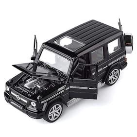 KTRS ENTERPRISE Die-Cast 1:32 Scale Metal Die-Cast Mercedes-Benz AMG G55 Pull Back Car 4 Openable Doors Musical Sound & Light Best for Kids (Multi Color)