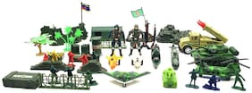 KTRS ENTERPRISE Battlefield Army Military Play Set Toys for Kids with Mat, Children Strikes Against Militant Launch Pads Control Best Gift Child