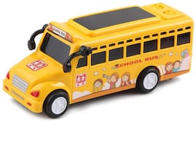 Ktrs Enterprise School Bus with Music & 3D Lights - Multicolour