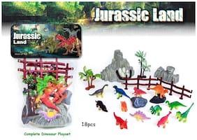 KTRS ENTERPRISE Action Dinosaur Set Toy (Set of 18)