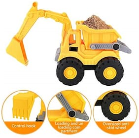 KTRS Enterprises Unbreakable Plastic Friction Powered Dig & Dump Construction Truck Toy for Kids (Small) 1 pic