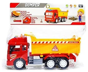 Ktrs enterprises Huge Size Push and Go Toy for Kids, Dumper Truck with Sound and Lights Dumper Truck Toy with Friction Powered Wheels for Kids 1 pic