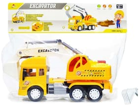 Ktrs enterprises Friction Powered Excavator Construction Truck Toy with Light and Sound for Kids 1 pic