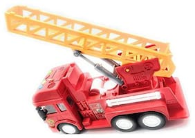 Ktrs enterprise Friction Powered Realistic Fire Rescue Truck Toy with Light and Musical Fire Truck for Kids 1 pic
