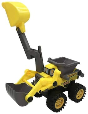 KTRS Functional Friction Powered Construction Truck with Sand Playing Toys for Kids 1 pic