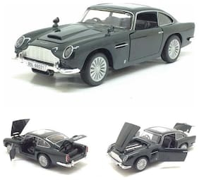 KTRS  James Bond car Metal car Light & Music 4 Wheel Drive Metal Car Pull Back with 4 Openable Doors  Engine Cover