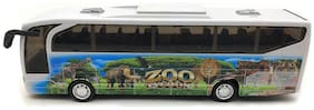 Ktrs Push and Go Friction Powered Forest Theme Bus Toy with Light and Sound Effects