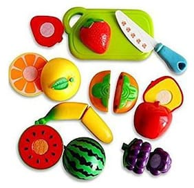 Ktrs Realistic Sliceable Fruits Cutting Play Toy set With Velcro