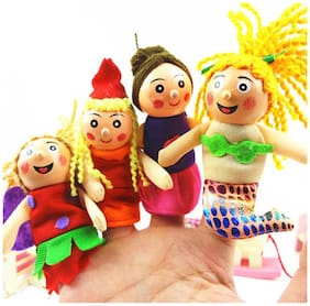 Kuhu Creations Finger Puppets(4 Pcs)