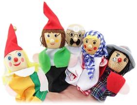 Kuhu Creations Multicolour Wooden Career Professional'S Finger Puppet - Set Of 6