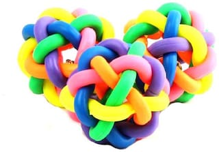 Kuhu Creations Pet Rubber Braided Rope Ball