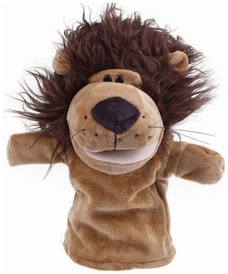 Kuhu Creations Brown Lion Hand Puppet