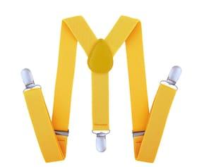 Kutumbh Adjustable Y-Back Elastic Suspender for Babies;Kids;Boys & Girls (Suitable for upto 8 Years Old) (Yellow)