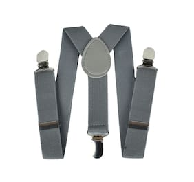 Kutumbh Adjustable Y-Back Elastic Suspender for Babies;Kids;Boys & Girls (Suitable for upto 8 Years Old) (Grey)