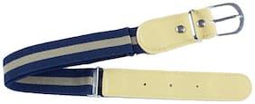 Kutumbh Blue Brown Elastic Strechable Adjustable Belts for kids Boys and Girls