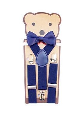 Kutumbh Blue Adjustable Y-Back Elastic Suspender for Babies;Kids;Boys & Girls (Suitable for upto 8 Years Old)
