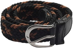 Kutumbh Elastic Stretchable buckle braided rope Belts for kids Boys and Girls