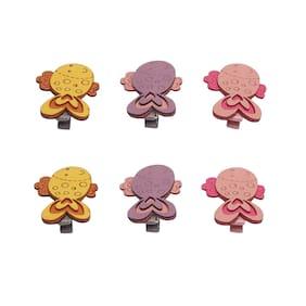 KUTUMBH Multi Girls Hair clip - Pair of hair clips (pack of 3)