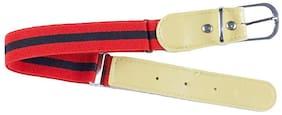 Kutumbh Red Black Elastic Strechable Adjustable Belts for kids Boys and Girls