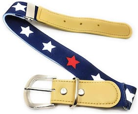 Kutumbh Stretchable Adjustable Belt for kids Boys and Girls Blue
