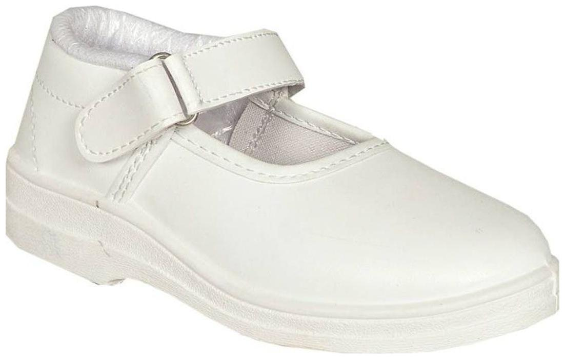 Lakhani Touch White Girls School shoes