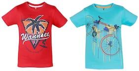 Landebert Boy Cotton Printed T-shirt - Multi