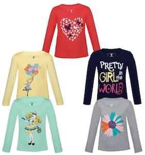 Landebert Girl Cotton Printed T Shirt - Pink
