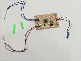 LASER Security System ,  LDR Based Security System on Dotted/multipurpose pcB board