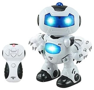 latest radhe Night Dancing Plastic Musical Toy Robot
